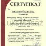 Certyfikat uczestnictwa w konferencji PUM.
