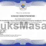 Certyfikat ukończenia kursu podstawowego z Integracji Strukturalnej.