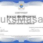 Certyfikat ukończenia kursu Masażu Tkanek Głębokich.