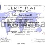 Certyfikat ukończenia kursu podstawowego PNF.