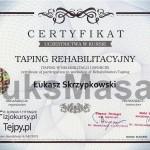Certyfikat ukończenia kursu Plastrowania Rehabilitacyjnego.