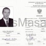 Duplom ukończenia Studiów Magisterskich.