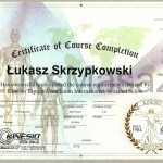 Certyfikat ukończenia kursu KT1 i KT2 z Kinesiology Tapingu.