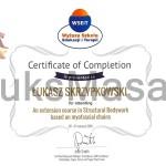 Certyfikat ukończenia kursu rozwijającego z Integracji Strukturalnej.